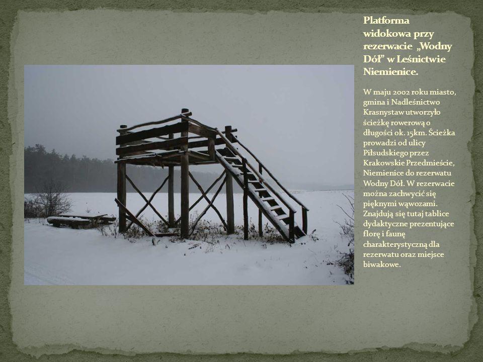 W maju 2002 roku miasto, gmina i Nadleśnictwo Krasnystaw utworzyło ścieżkę rowerową o długości ok. 15km. Ścieżka prowadzi od ulicy Piłsudskiego przez