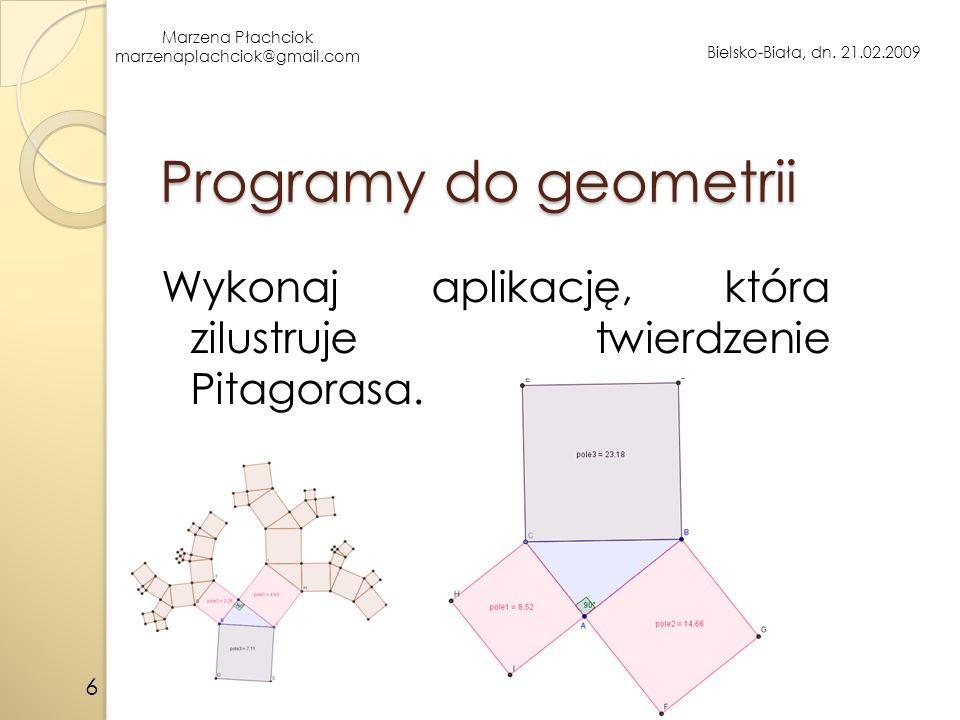 Marzena Płachciok marzenaplachciok@gmail.com Bielsko-Biała, dn.