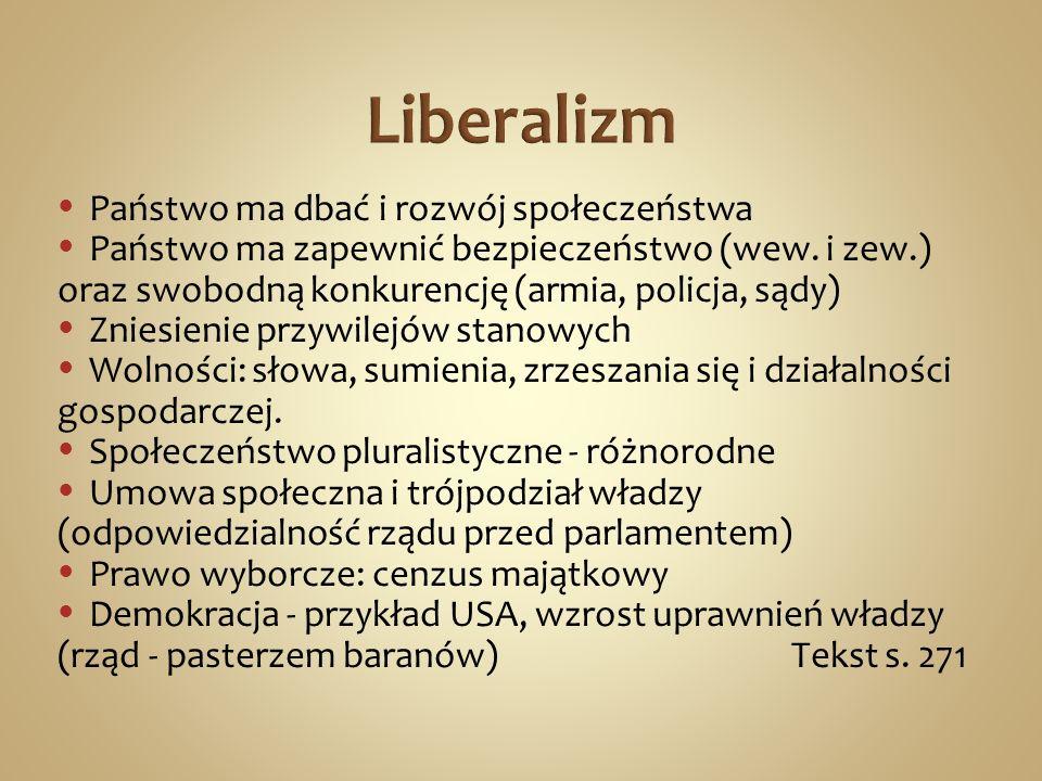 Ustawy socjalne Bismarcka - miały hamować ruch socjalistyczny (m.in.