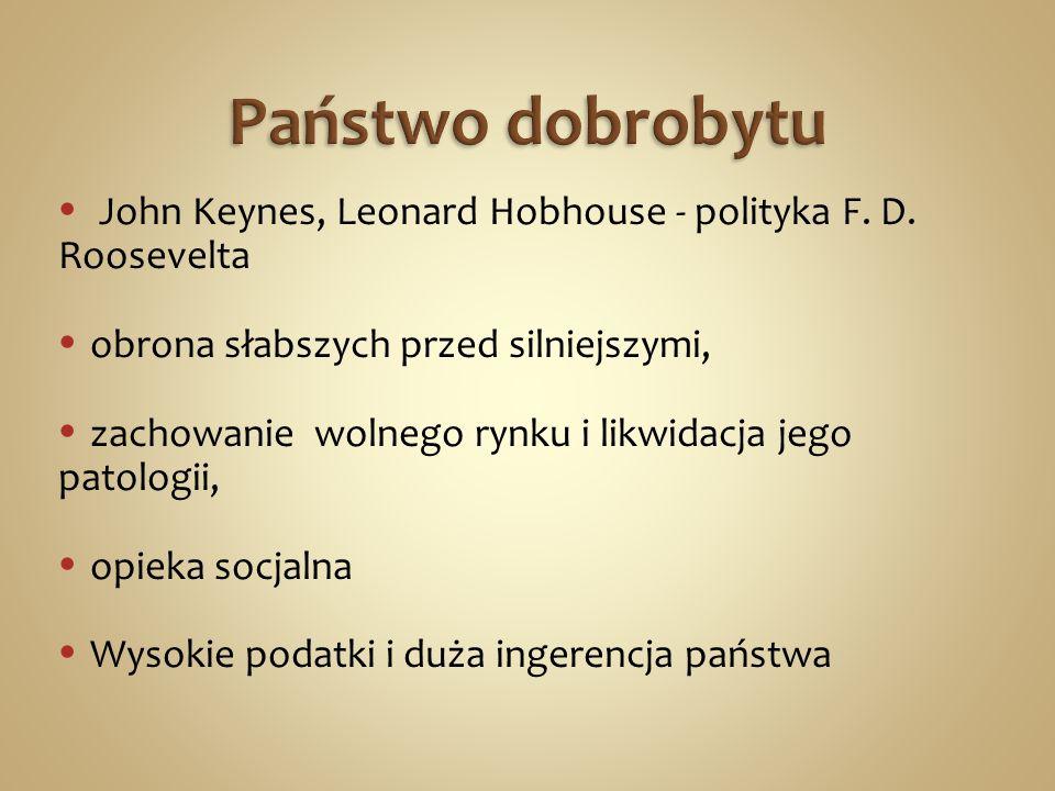 John Keynes, Leonard Hobhouse - polityka F. D.
