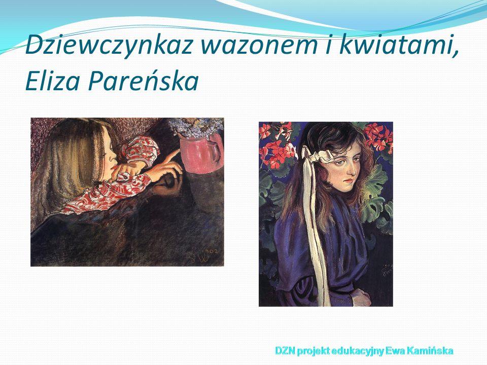 Dziewczynkaz wazonem i kwiatami, Eliza Pareńska