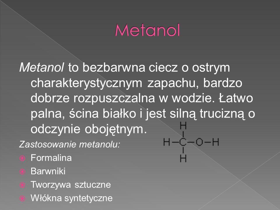 Etanol to bezbarwna ciecz o ostrym, drażniącym zapachu i piekącym smaku.