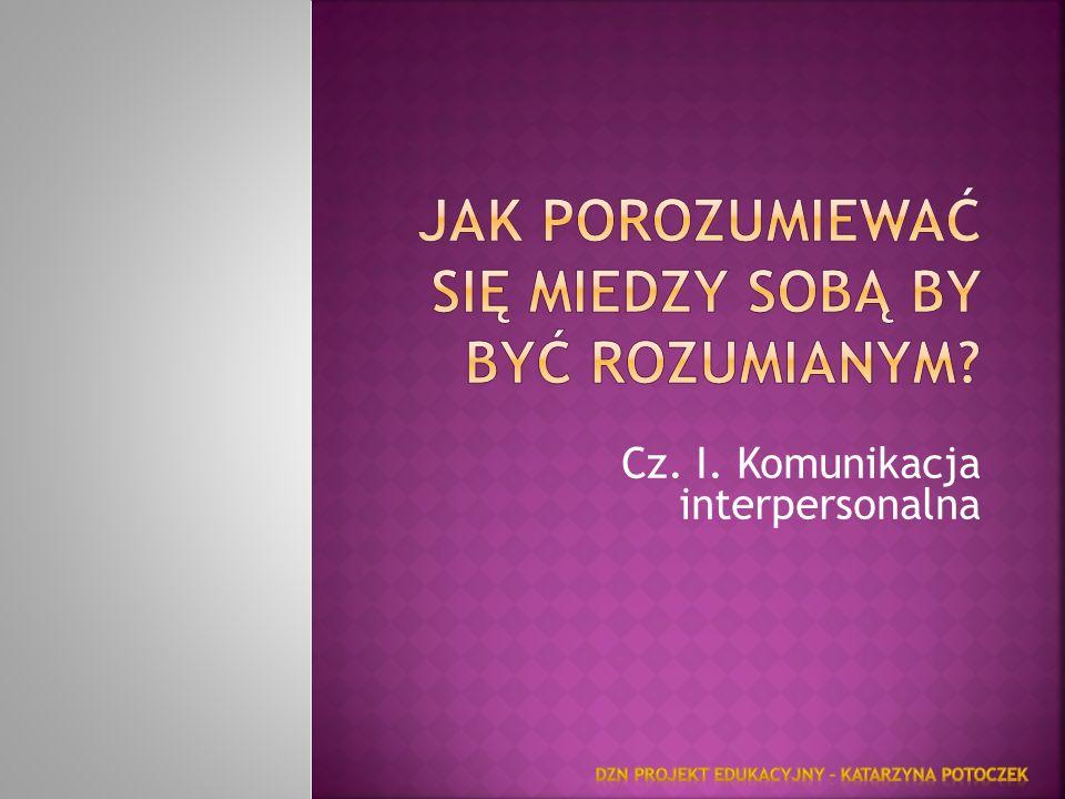 Cz. I. Komunikacja interpersonalna