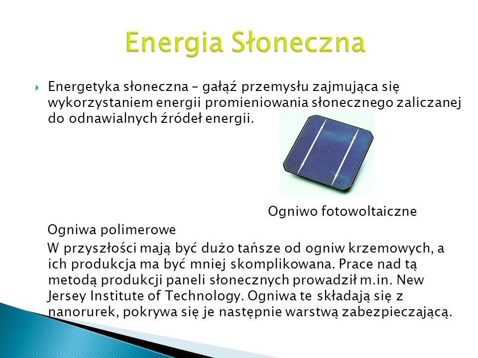 Energetyka słoneczna – gałąź przemysłu zajmująca się wykorzystaniem energii promieniowania słonecznego zaliczanej do odnawialnych źródeł energii. Ogni