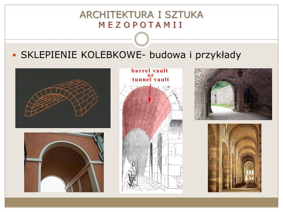 ARCHITEKTURA I SZTUKA MEZOPOTAMII SKLEPIENIE KOLEBKOWE- budowa i przykłady