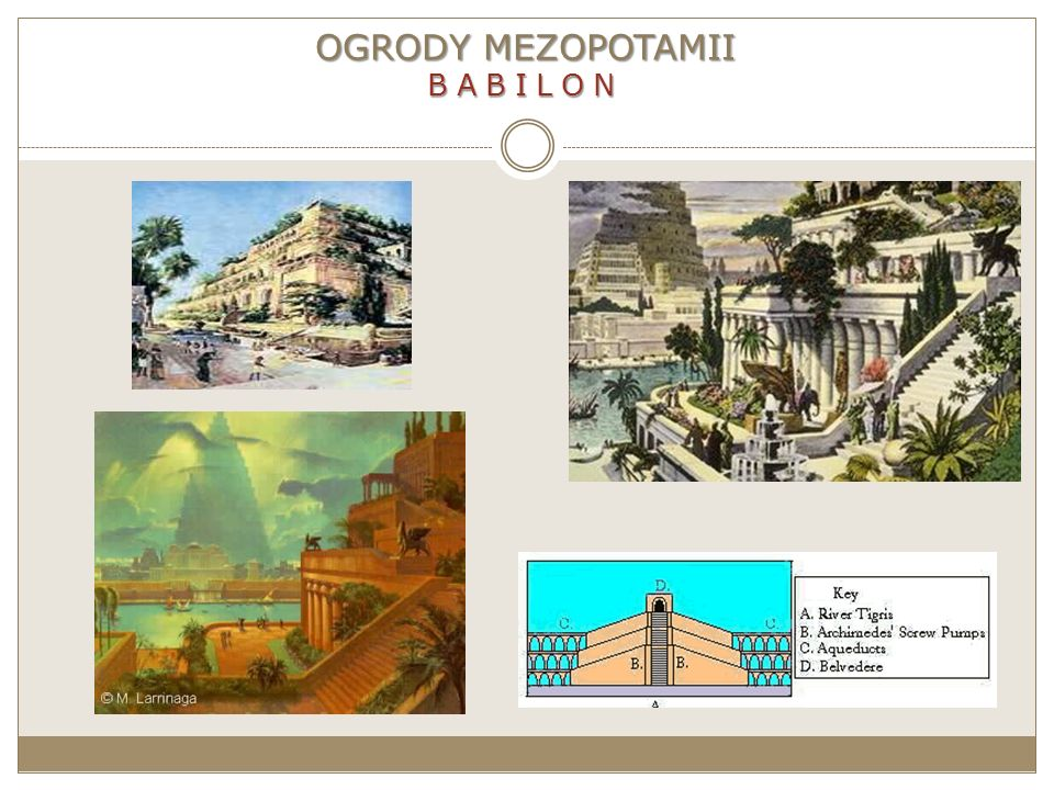 OGRODY MEZOPOTAMII BABILON
