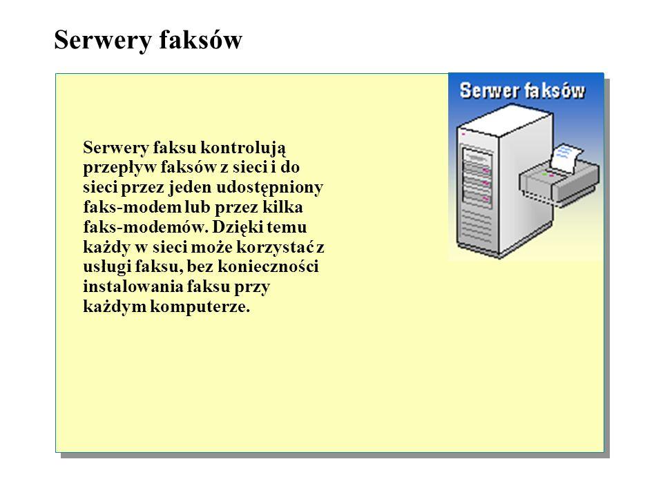 Serwery poczty elektronicznej Serwery pocztowe działają w pewien sposób podobnie jak serwery baz danych, gdyż w ich przypadku również stosowane są odd