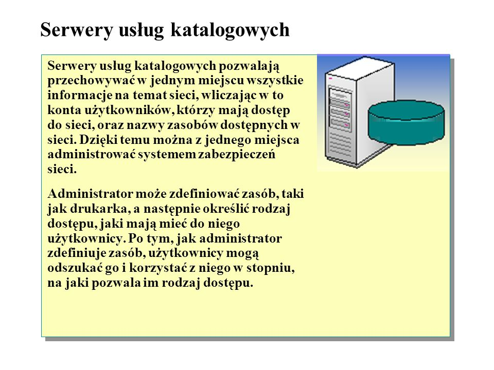 Serwery faksów Serwery faksu kontrolują przepływ faksów z sieci i do sieci przez jeden udostępniony faks-modem lub przez kilka faks-modemów. Dzięki te