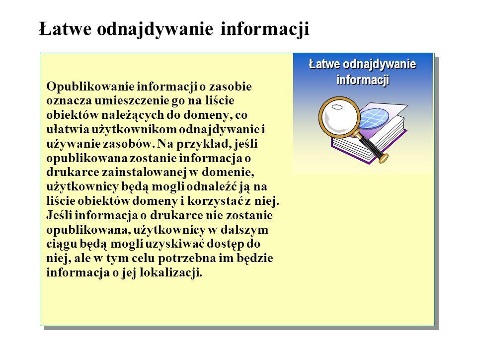 Jako przykład można przedstawić domenę, należącą do pewnego przedsiębiorstwa. Aby uprościć zarządzanie zasobami, wchodzącymi w skład sieci, zasoby nal
