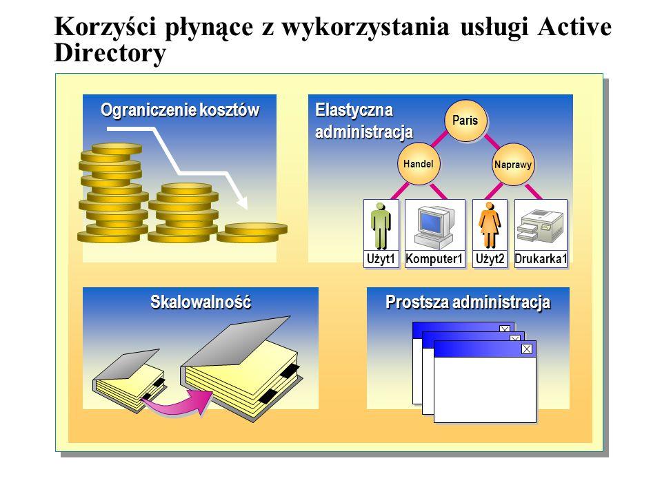 System zabezpieczeń jest zintegrowany z usługą Active Directory poprzez proces uwierzytelniania logowania oraz kontrolę dostępu do obiektów, znajdując