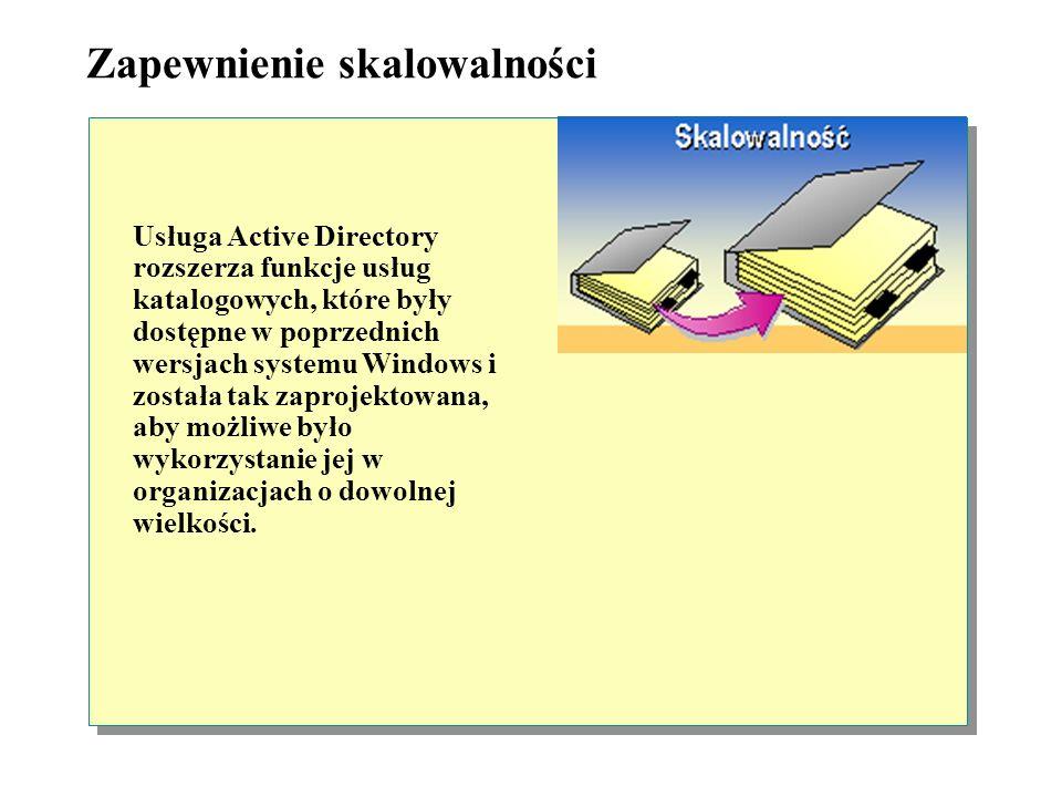 Uelastycznienie administracji Jednostki organizacyjne, na które może zostać podzielona domena, stanowią część usługi Active Directory. Dzięki jednostk