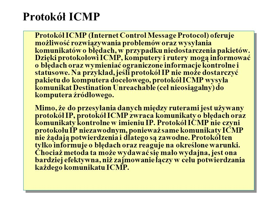 ICMP (Internet Control Message Protocol) UDPTCP IP ICMP IGMPARP Ruter