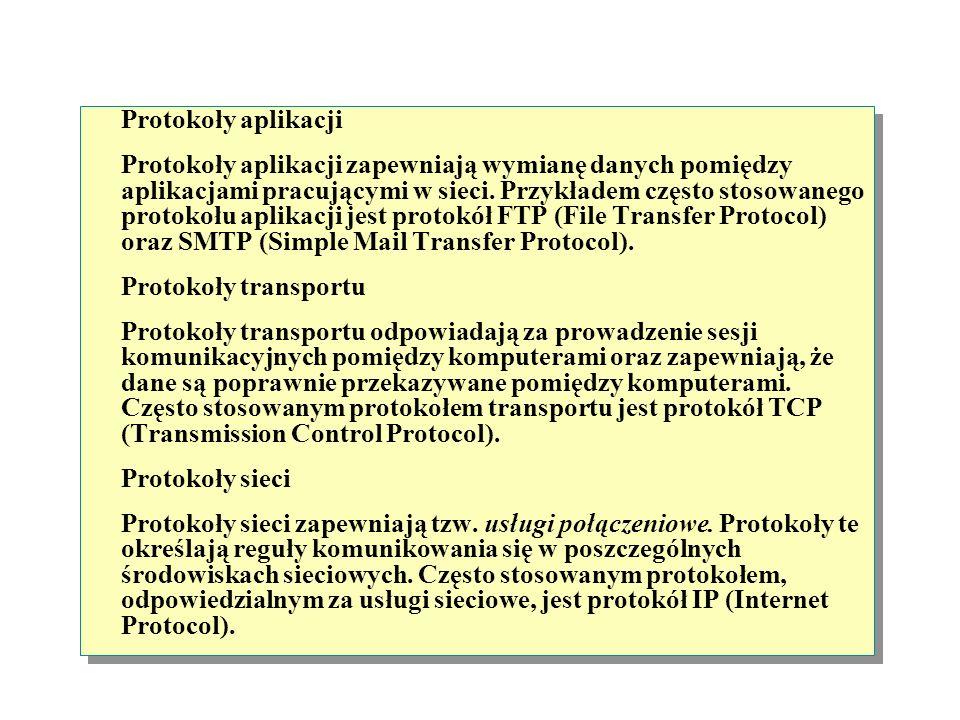 Zgodnie z modelem OSI, do podziału na pakiety, wysyłania oraz odbierania transmisji danych w sieci służą oddzielne warstwy. Realizację tych zadań umoż