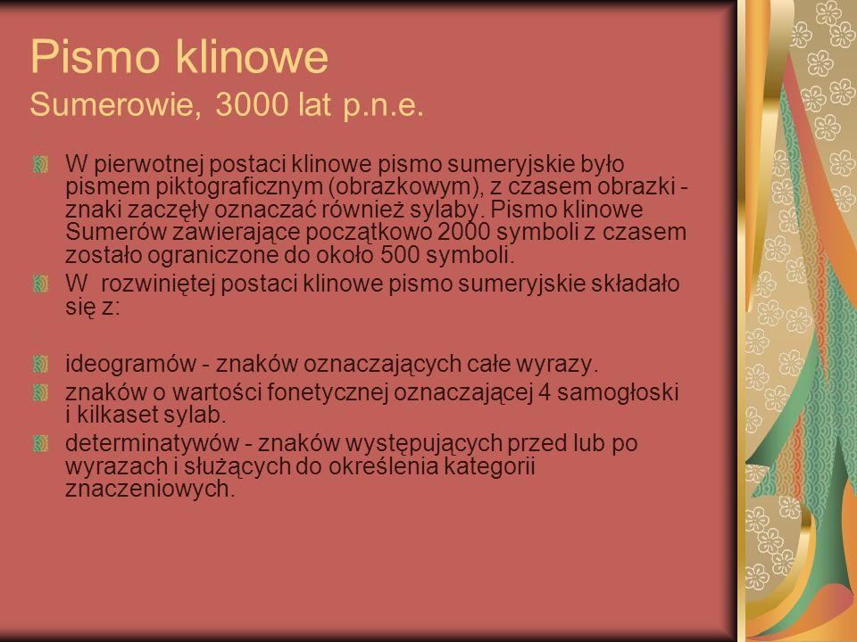 Sumeryjskie pismo klinowe.Muzeum Watykańskie. Autor: Szaleńcowa Anna.