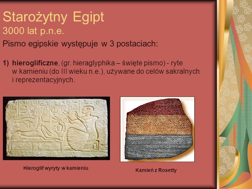 2) hieratyczne, (tzw.