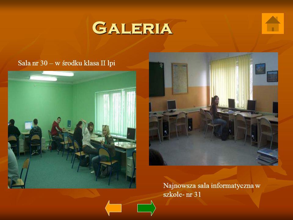 Galeria Sala nr 30 – w środku klasa II lpi Najnowsza sala informatyczna w szkole- nr 31