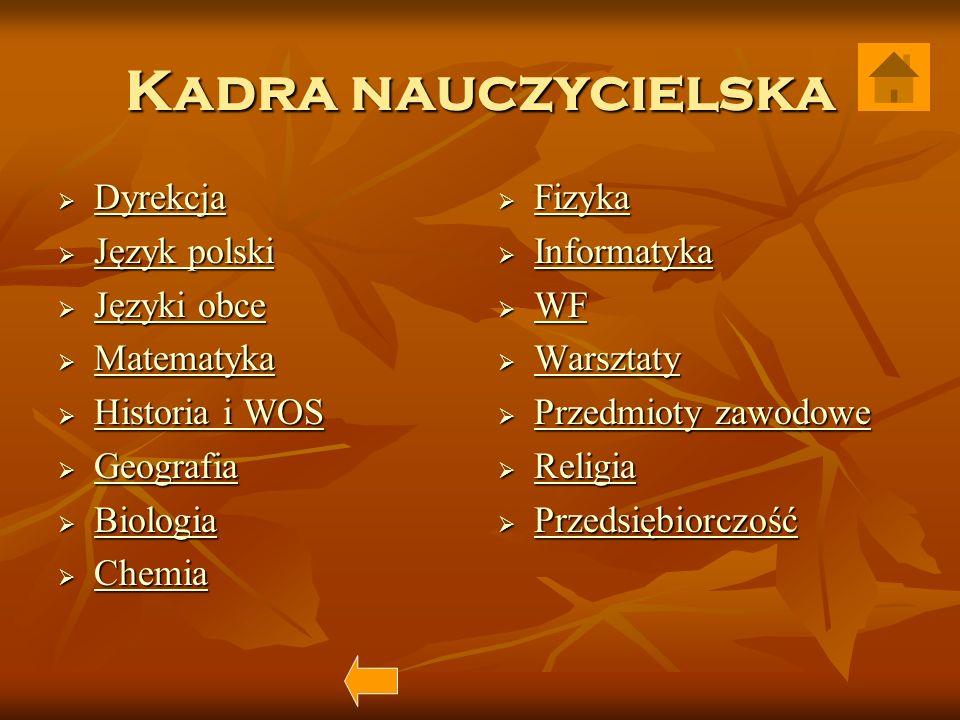 Dyrekcja mgr Andrzej Matczak - dyrektor szkoły mgr Andrzej Matczak - dyrektor szkoły mgr inż.