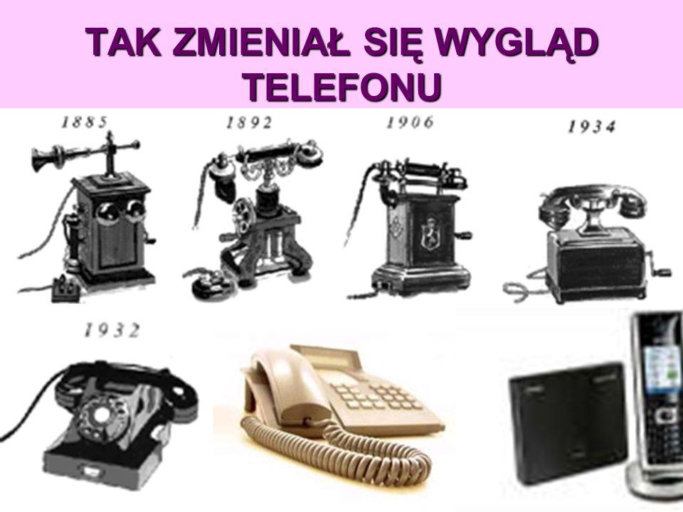 TELEFON Powszechnie uważa się, że telefon wymyślił w 1876 Aleksander Graham Bell. Ostatnie badania dowodzą jednak, że pierwszym konstruktorem tego urz