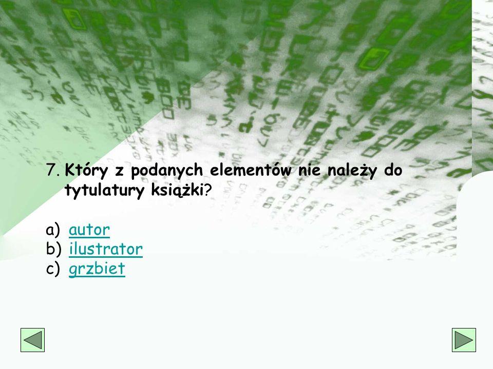 6. W jakim dziale katalogu rzeczowego znajdziesz książkę Mariana Młynarskiego, Płazy i gady Polski? a) 6262 b) PP c) 59 59