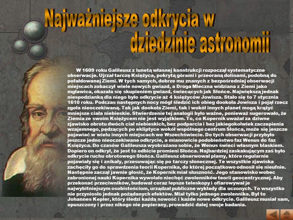 Od 1615 roku Galileuszem zaczęła interesować się Inkwizycja.