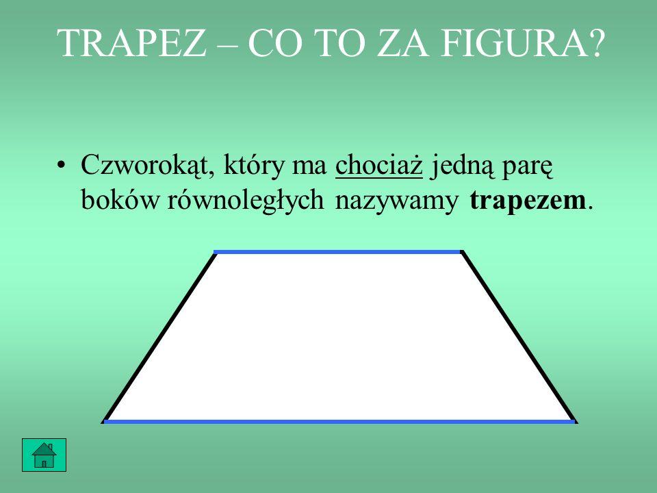 SPIS TREŚCI Określenie trapezu Trapezy przystające Przykład 1 Przykład 2 Przykład 3 Przykład 4 Zapamiętaj!