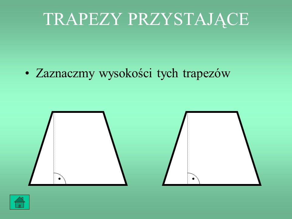 FIGURY PRZYSTAJĄCE Takie dwie figury, które można na siebie nałożyć, tak aby się dokładnie pokryły, nazywamy figurami przystającymi.