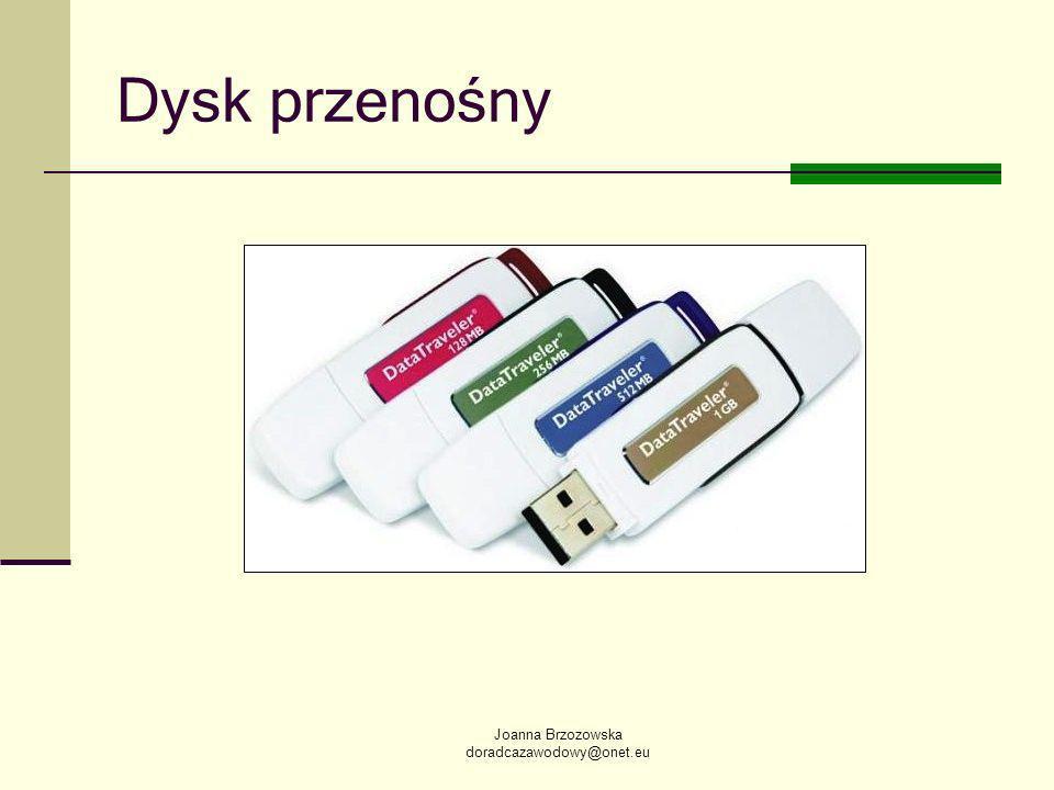 Joanna Brzozowska doradcazawodowy@onet.eu Dysk przenośny