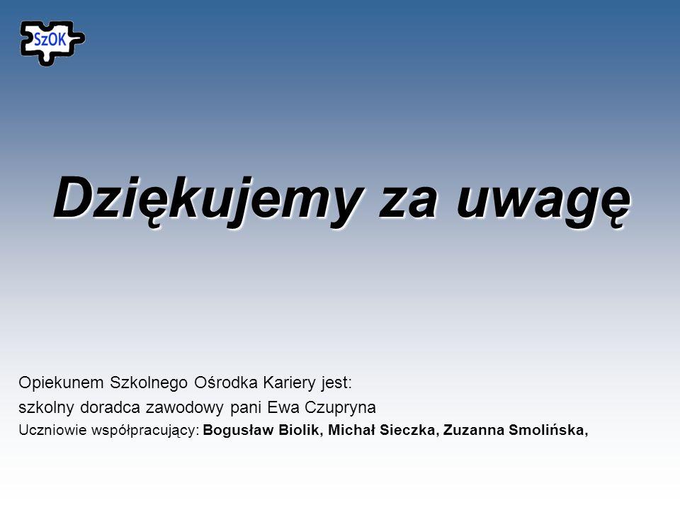 Szkolny Ośrodek Kariery mieści się w Zespole Szkół nr 4 im.