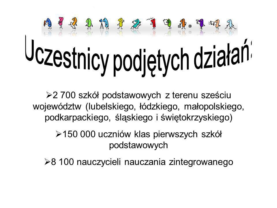 2 700 szkół podstawowych z terenu sześciu województw (lubelskiego, łódzkiego, małopolskiego, podkarpackiego, śląskiego i świętokrzyskiego) 150 000 ucz