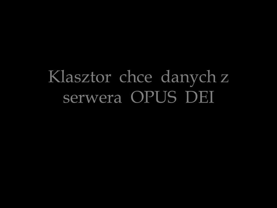 Klasztor chce danych z serwera OPUS DEI