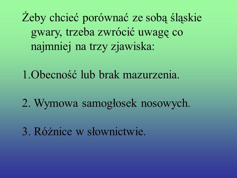 Językowo dzieli się Śląsk na południowy i północny, czasem wyróżnia się także środkowy, bądź na Cieszyński, Górny i Opolski.
