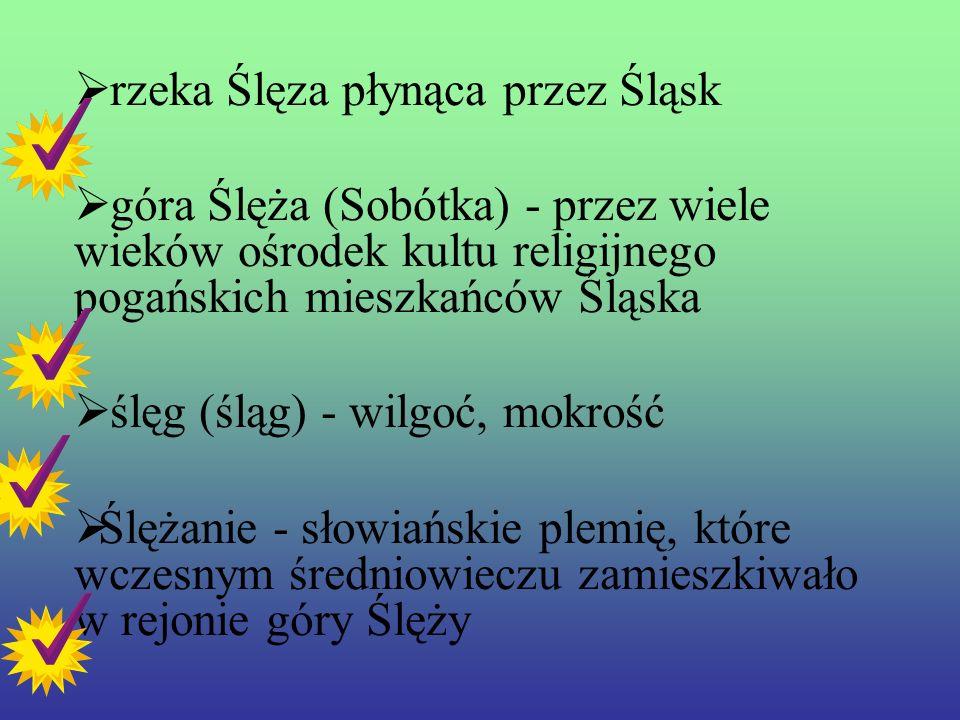 Etymologia nazwy Ś L Ą SK