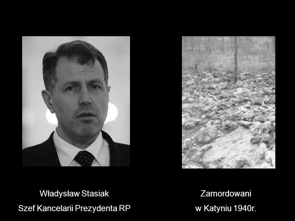 Władysław Stasiak Szef Kancelarii Prezydenta RP Zamordowani w Katyniu 1940r.