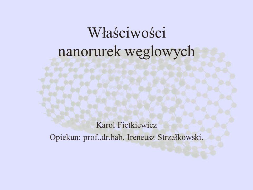 Właściwości nanorurek węglowych Karol Fietkiewicz Opiekun: prof..dr.hab. Ireneusz Strzałkowski.