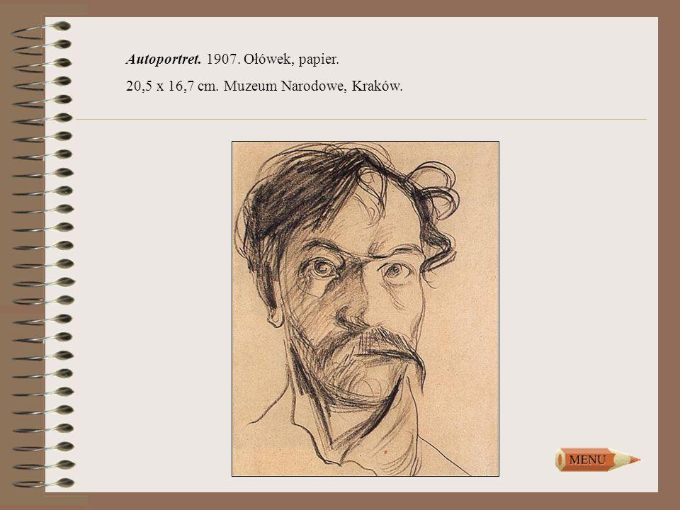 Autoportret. 1907. Ołówek, papier. 20,5 x 16,7 cm. Muzeum Narodowe, Kraków.