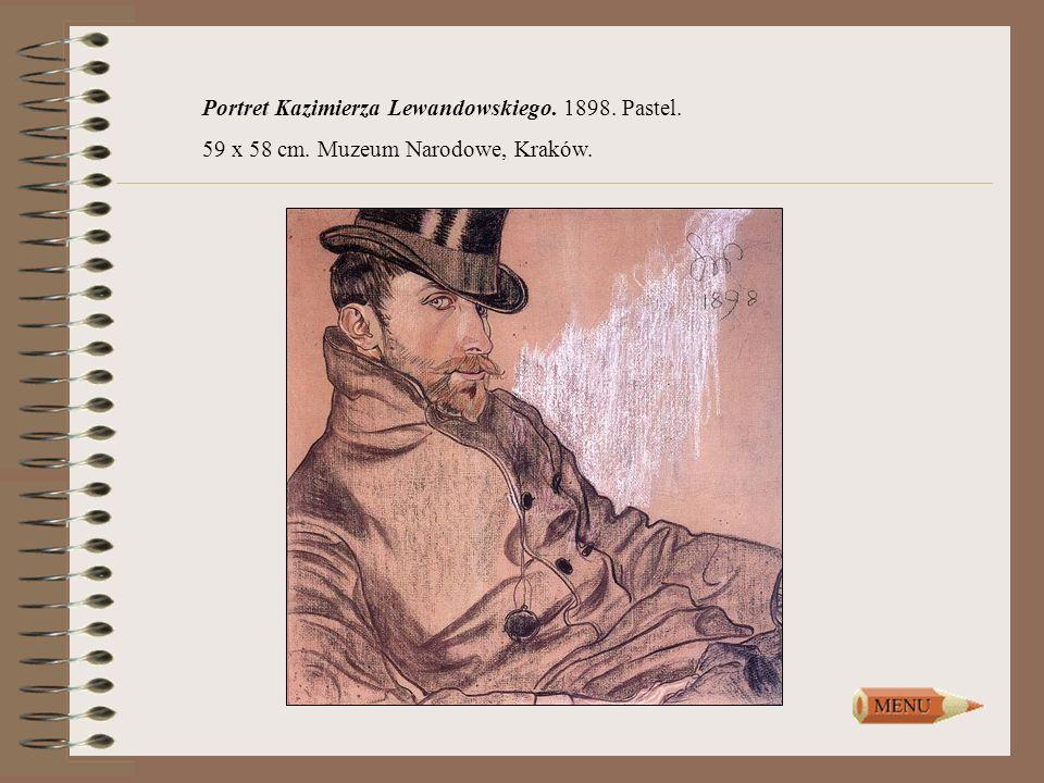 Portret Kazimierza Lewandowskiego. 1898. Pastel. 59 x 58 cm. Muzeum Narodowe, Kraków.