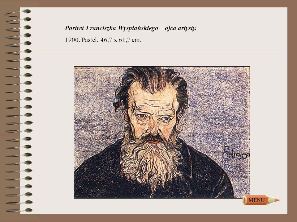 Portret Franciszka Wyspiańskiego – ojca artysty. 1900. Pastel. 46,7 x 61,7 cm.