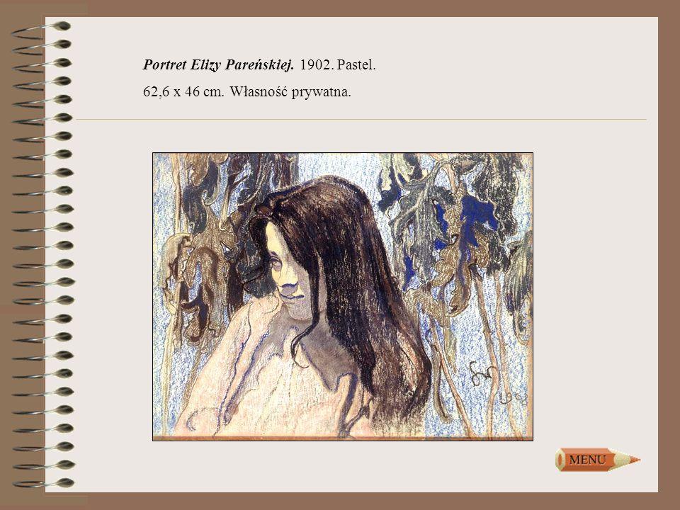 Portret Elizy Pareńskiej. 1902. Pastel. 62,6 x 46 cm. Własność prywatna.