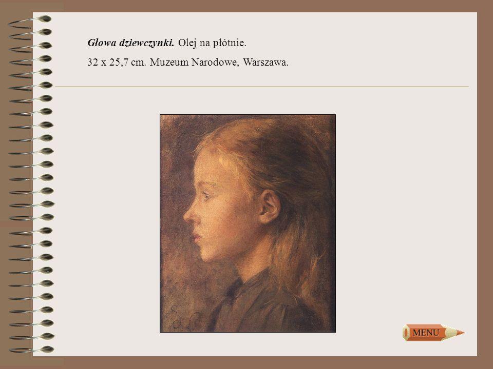 Głowa dziewczynki. Olej na płótnie. 32 x 25,7 cm. Muzeum Narodowe, Warszawa.