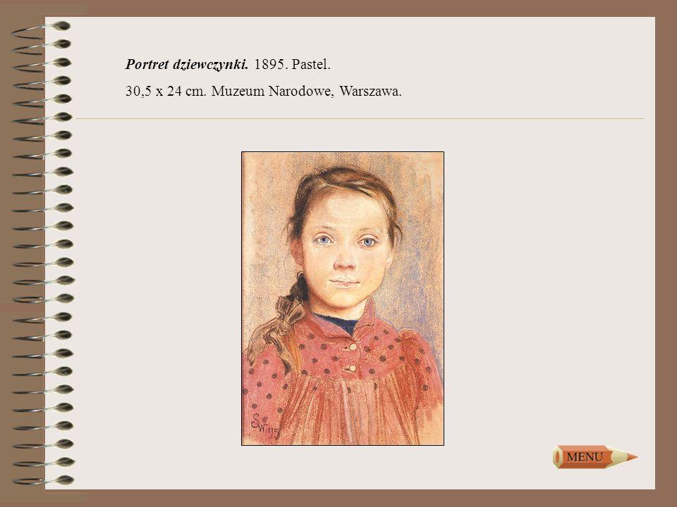 Portret dziewczynki. 1895. Pastel. 30,5 x 24 cm. Muzeum Narodowe, Warszawa.