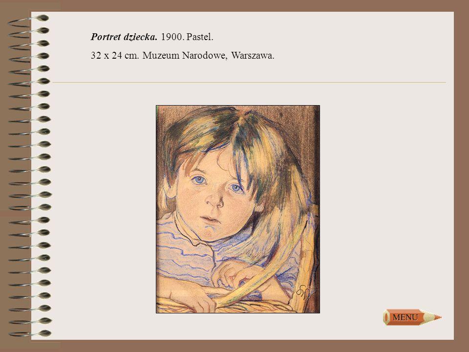 Portret dziecka. 1900. Pastel. 32 x 24 cm. Muzeum Narodowe, Warszawa.