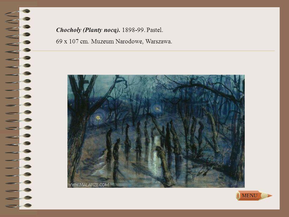 Chochoły (Planty nocą). 1898-99. Pastel. 69 x 107 cm. Muzeum Narodowe, Warszawa.