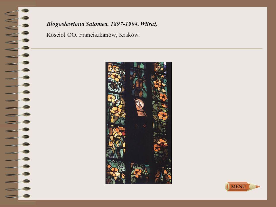 Błogosławiona Salomea. 1897-1904. Witraż. Kościół OO. Franciszkanów, Kraków.
