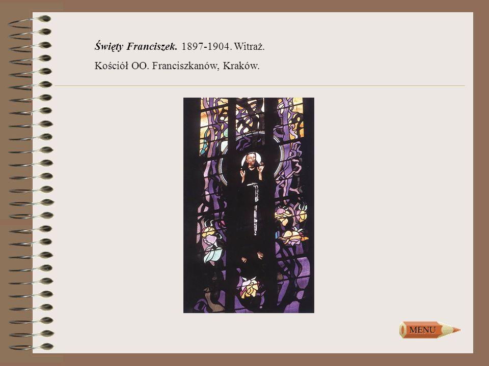 Święty Franciszek. 1897-1904. Witraż. Kościół OO. Franciszkanów, Kraków.