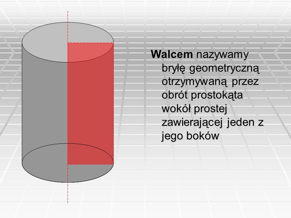 Przykład: Przekrój osiowy stożka jest trójkątem równoramiennym o kącie przy wierzchołku 60 o i podstawie 8cm.