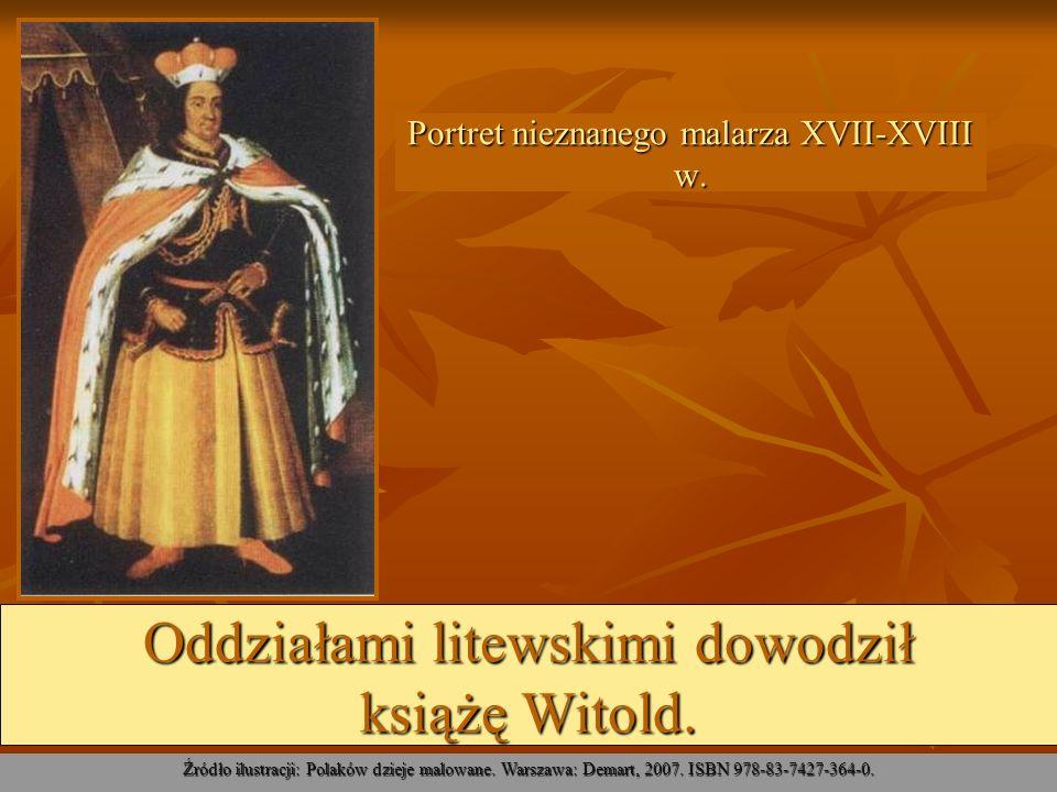 Informacji na temat Bitwy pod Grunwaldem dostarcza nam Kronika konfliktów Władysława, króla Polskiego z Krzyżakami w roku pańskim 1410 Zbigniewa Oleśnickiego