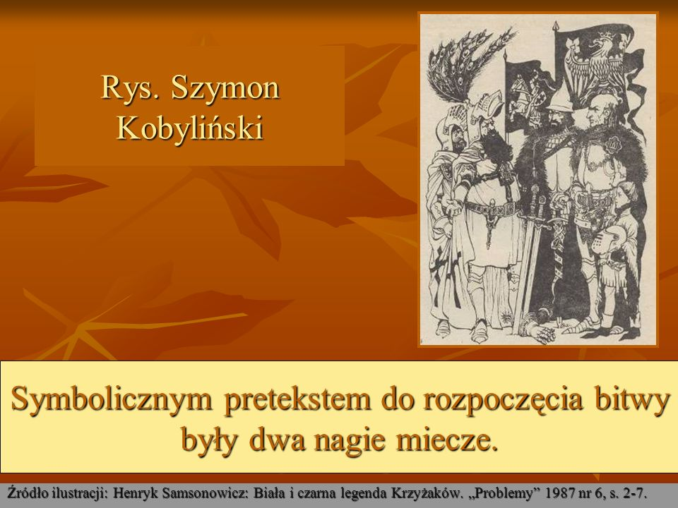 Michał Bylina: Grunwaldzkie miecze Źródło ilustracji: Zbigniew Załuski: Michał Bylina : Studium monograficzne.