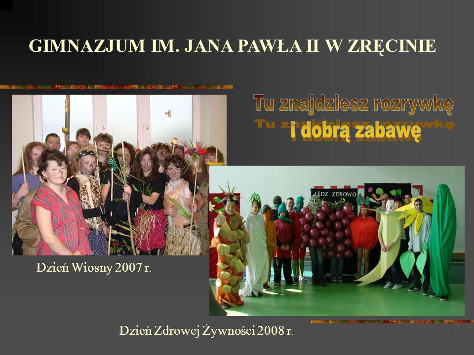 GIMNAZJUM IM. JANA PAWŁA II W ZRĘCINIE Wycieczka klas I do Warszawy 2008 r.