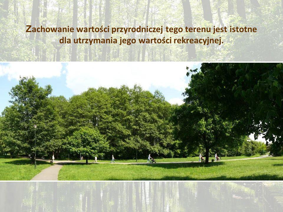 Z achowanie wartości przyrodniczej tego terenu jest istotne dla utrzymania jego wartości rekreacyjnej.