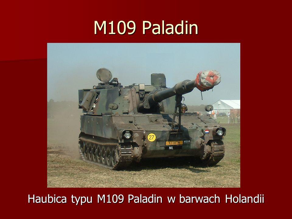 M109 Paladin Haubica typu M109 Paladin w barwach Holandii